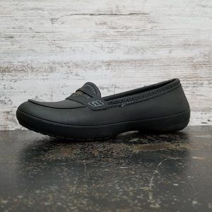 Womens Crocs Penny Loafers Shoes Sz 7 Used Black